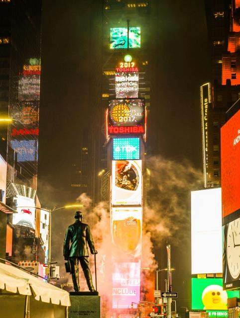NYの巨大電子看板